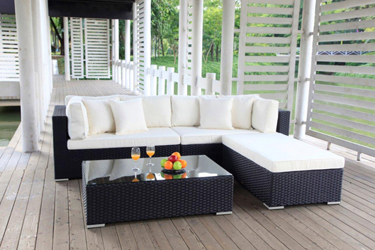 rattan m bel rattan lounge speziell gartenm bel poly rattan kunststoffgeflecht balkon. Black Bedroom Furniture Sets. Home Design Ideas